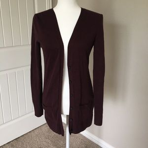 Old Navy Maroon buttoned cardigan